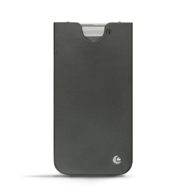 Sencillo y pulcro esta funda de cuero para HTC One M8